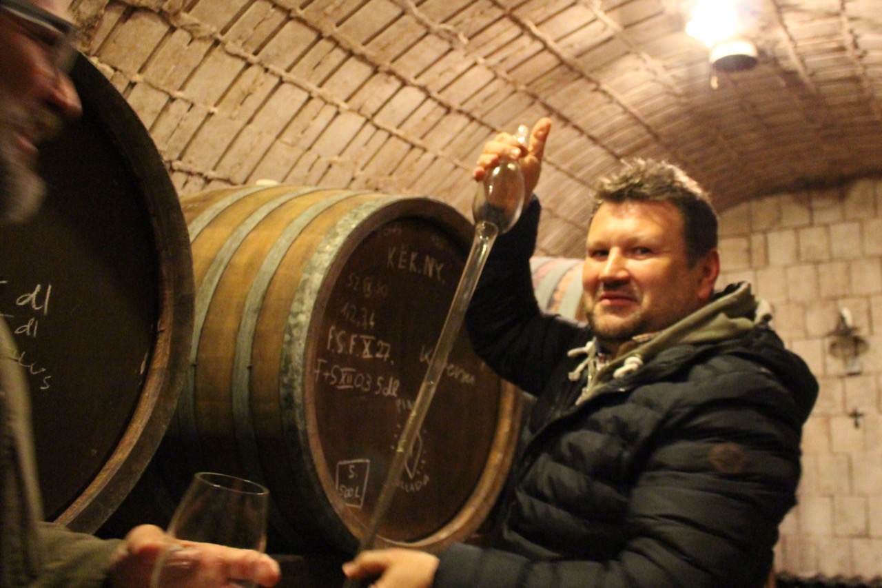 In the cellar with Peter Vali